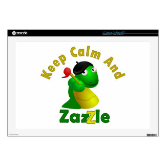 "Keep Calm and Zazzle Decals For 17"" Laptops"
