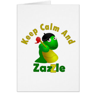 Keep Calm and Zazzle Greeting Card