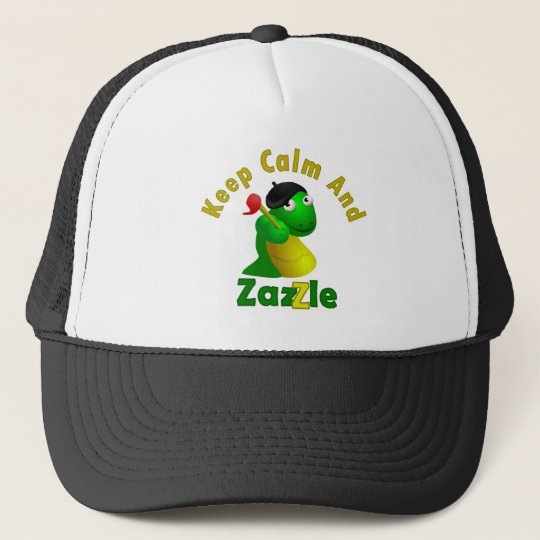 Keep Calm and Zazzle Trucker Hat