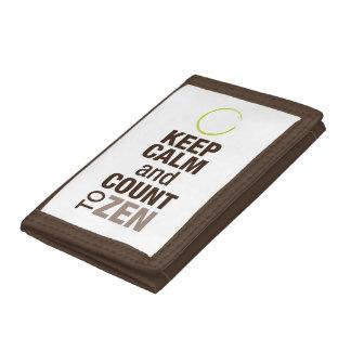 Keep Calm and Zen Tri-fold Nylon Wallet