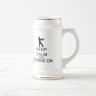 Keep Calm And Zombie On 18 Oz Beer Stein