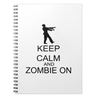 Keep Calm And Zombie On Spiral Note Books