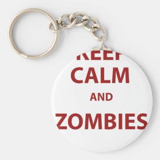 Keep Calm and Zombies Keychain