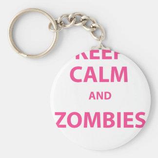 Keep Calm and Zombies! Keychain