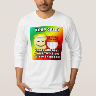 Keep Calm Angel And Devil Long Sleeve t-shirt