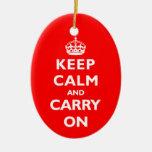 Keep Calm- Any Colour Ceramic Ornament