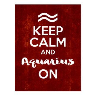 Keep Calm Aquarius On Birthday Astrology Postcard
