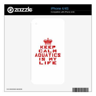 Keep calm Aquatics is my life iPhone 4 Decal