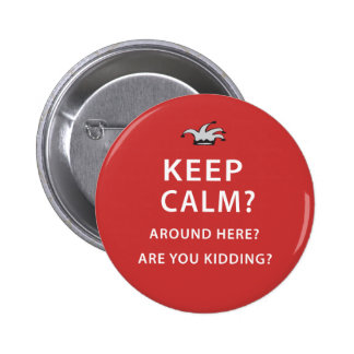 Keep Calm Around Here Are You Kidding Pins