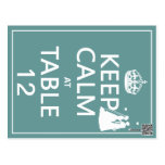 Keep Calm at Table x(table numbers) Postcard