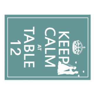 Keep Calm at Table x(table numbers) Post Card