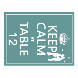 Keep Calm at Table x(table numbers) Post Cards