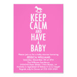 Keep Calm Baby Shower 5x7 Paper Invitation Card