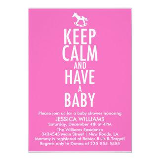 Keep Calm Baby Shower Card