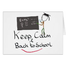 Keep Calm Back to School Card