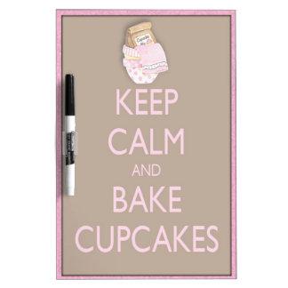 Keep calm bake cupcakes dry erase board