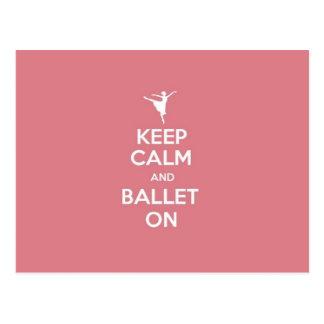 Keep Calm & Ballet On Postcard