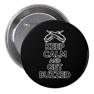 Keep Calm: Barber Humor Pinback Button
