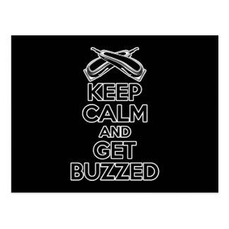 Keep Calm: Barber Humor Postcard