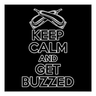 Keep Calm: Barber Humor Poster