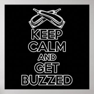 Keep Calm: Barber Humor Poster