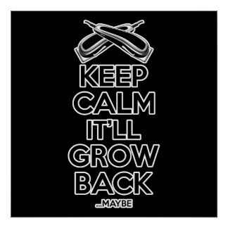 Keep Calm: Barber Shop Humor Poster