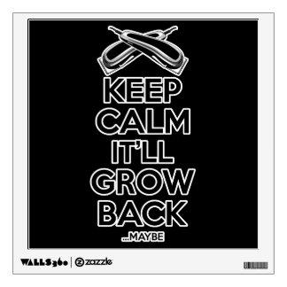 Keep Calm: Barber Shop Humor Wall Decal
