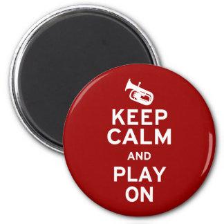 Keep Calm Baritone 2 Inch Round Magnet