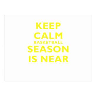 Keep Calm Basketball Season is Near Postcard