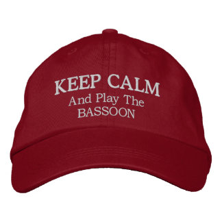 Keep Calm Bassoon Music Embroidered Hat
