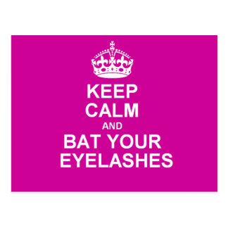 Keep Calm Bat Your Eyelashes Post Cards