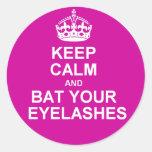 Keep Calm & Bat Your Eyelashes Stickers