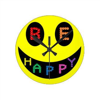 Keep Calm Be Happy Destiny Round Clock