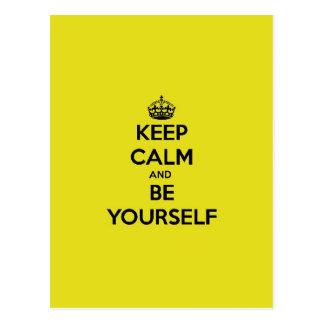 Keep Calm & Be Yourself Postcard