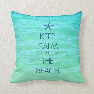 KEEP CALM BEACH PILLOW