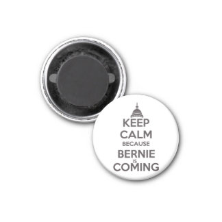 Keep Calm Because Bernie is Coming 1 Inch Round Magnet