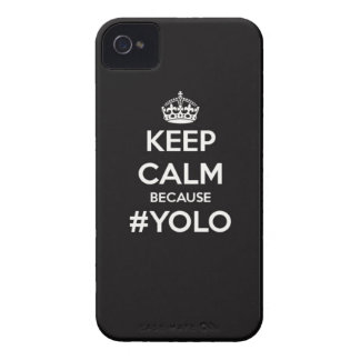 Keep Calm Because YOLO iPhone 4 Case-Mate Cases