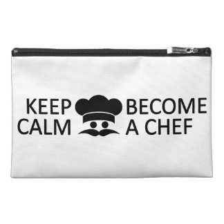 Keep Calm & Become a Chef custom accessory bags