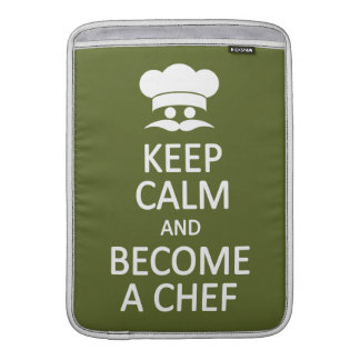 Keep Calm & Become a Chef custom MacBook sleeve