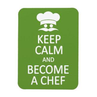 Keep Calm Become a Chef custom magnet