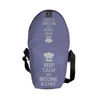 Keep Calm & Become a Chef custom messenger bag