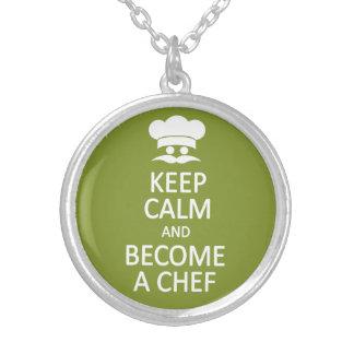 Keep Calm & Become a Chef custom necklace