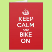 Keep Calm Bike Greeting Note Card