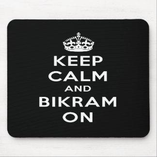 Keep Calm & Bikram On Mouse Pad