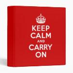 Keep Calm Binder