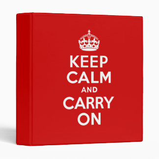 Keep Calm Binder