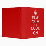 Keep calm binder | Customizable text design