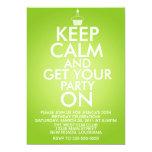 Keep Calm Birthday 5x7 Paper Invitation Card
