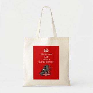 Keep Calm Black Labrador Tote Bag