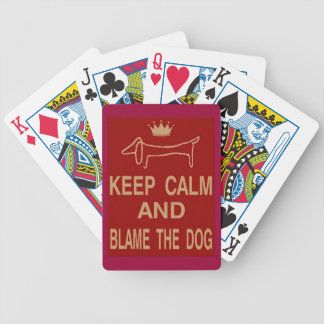 Keep Calm Blame The Dog Bicycle Playing Cards